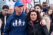 Rome jan 30th 2016, people gather at Rome's Circus Maximus. Thousands of people were gathering in Rome's Circus Maximus for a pro-family protest that opposes proposed legislation permitting civil unions for same-sex couples and legal recognition for their families. In the picture people and protesters