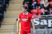 Leyton Orient forward, on loan from Millwall, John Marquis  during the Sky Bet League 2 match between Leyton Orient and York City at the Matchroom Stadium, London, England on 21 November 2015. Photo by Simon Davies.