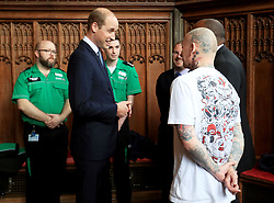 June 2, 2017 - Manchester, United Kingdom - Image licensed to i-Images Picture Agency. 02/06/2017. Manchester, United Kingdom. The Duke of Cambridge at Manchester Cathedral to meet first responders and members of the local community who provided vital care and support to those affected by last week's suicide bomb attack, including representatives from St John's Ambulance, Northern Rail and the British Red Cross.  Picture by ROTA  / i-Images UK OUT FOR 28 DAYS (Credit Image: © Rota/i-Images via ZUMA Press)