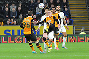Sam Clucas  goes for overhead kick during the Capital One Cup match between Hull City and Swansea City at the KC Stadium, Kingston upon Hull, England on 22 September 2015. Photo by Ian Lyall.