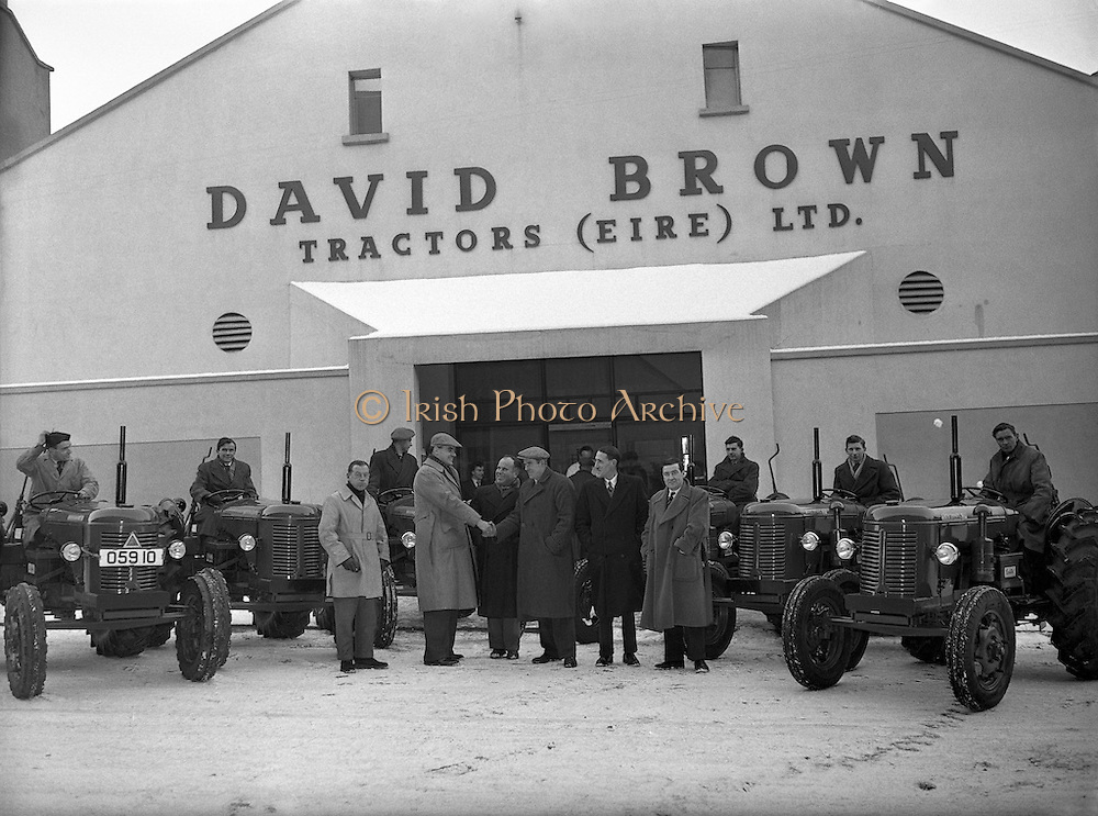 17/01/1955<br /> 01/17/1955<br /> 17 January 1955<br /> <br /> David Brown Tractors (Eire) Ltd. - Special for McConnell's - Sale of Six Tractors