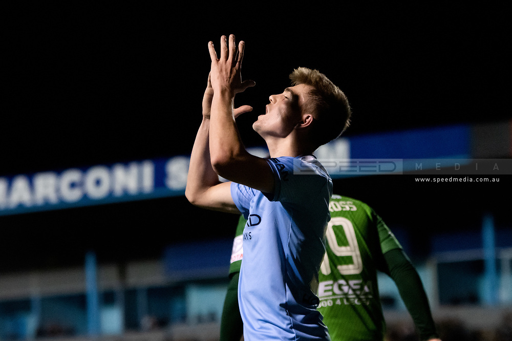 SYDNEY, AUSTRALIA - AUGUST 21: Melbourne City player Connor Metcalfe (34) shows some emotion during the FFA Cup round of 16 soccer match between Marconi Stallions FC and Melbourne City FC on August 21, 2019 at Marconi Stadium in Sydney, Australia. (Photo by Speed Media/Icon Sportswire)