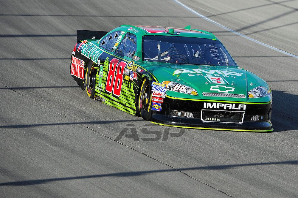 Joliet, IL - SEP 14, 2012: Dale Earnhardt, Jr. (88) in turn 4 during practice for the Geico 400 at the Chicagoland Speedway in Joliet, IL.