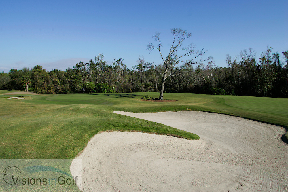 4th and 16th (right) holes at The National Course, Champions Gate, Florida USA. Designed by Greg Norman<br /> <br /> Photo Mark Newcombe