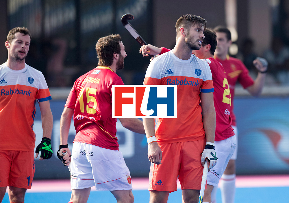 Odisha Men's Hockey World League Final Bhubaneswar 2017<br /> Match id:04<br /> Netherlands vs Spain<br /> Foto: Martijn Havenga (Ned) baalt van een doelpunt van Spanje.<br /> WORLDSPORTPICS COPYRIGHT FRANK UIJLENBROEK