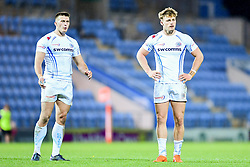 Tom Wyatt of Exeter Chiefs Rugby Academy and Luke Flack of Exeter Chiefs Rugby Academy - Ryan Hiscott/JMP - 07/11/2018 - SPORT - Sandy Park - Exeter, England - Exeter Chiefs Academy v Royal Navy