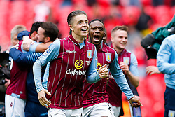 Jack Grealish and other players celebrate after Aston Villa win the match 2-1 to reach the 2015 FA Cup Final - Photo mandatory by-line: Rogan Thomson/JMP - 07966 386802 - 19/04/2015 - SPORT - FOOTBALL - London, England - Wembley Stadium - Aston Villa v Liverpool - FA Cup Semi Final.