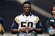 Samson Ebukam (LB, LA Rams) during the NFL UK Media Day at Tottenham Hotspur Stadium, London, United Kingdom on 3 July 2019.