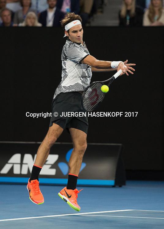 ROGER FEDERER (SUI)<br /> <br /> Australian Open 2017 -  Melbourne  Park - Melbourne - Victoria - Australia  - 24/01/2017.