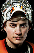 May 6, 2011 - Rochester Institute of Technology starting goalie, Shane Madolora poses for a portrait for RIT ESPN SportsZone at RIT's campus in Henrietta, NY.