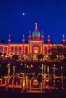 Twilight at Tivoli Gardens, Copenhagen, Denmark