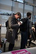 Chris, Jeu le paume, Stanley Barker signing,  Paris . 9 November 2018