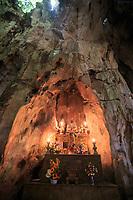 A small shrine within the  Huyen Khong Cave on Nhuyen Son Mountain, Da Nang, Vietnam