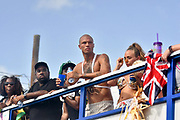 Jeremy Meeks also know as hot felon is seen in the photos kissing new girlfriend Chloe Green who he left his wife for. The new hot couple were seen in Barbados at the country's biggest festival known as Crop Over also there was international superstar Rihanna who calls Barbados home as well as Lewis Hamilton<br /> ©Graham Belle/Exclusivepix Media