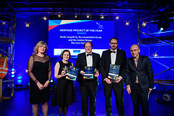 Heritage Project of the Year, sponsored by Woodhead Group.  Winner: Banks Long &amp; Co/Lincolnshire Co-op/Lindum Construction - Corn Exchange.<br /> <br /> Greater Lincolnshire Construction and Property Awards 2018 organised by Lincolnshire Chamber of Commerce and held at The Engine Shed, Lincoln.<br /> <br /> Picture: Chris Vaughan Photography<br /> Date: February 6, 2018