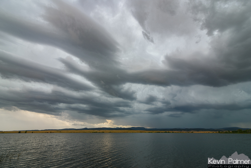 This severe thunderstorm rolled out of the Black Hills and approached Bear Butte Lake near Sturgis.