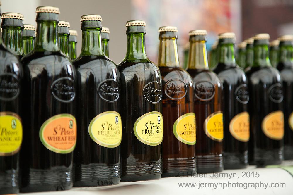 Bottles of St Peter's beers, Aldeburgh Food Festival