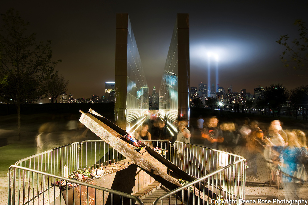 Empty Sky Memorial and the Tribute in Light<br /> 9/11 10th Anniversary<br /> Liberty State Park<br /> Jersey City, NJ