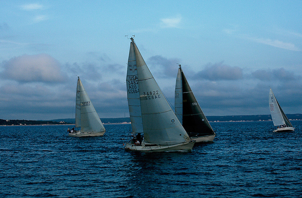 Sailboats Race, Southhold Bay, , Southold, New York, USA