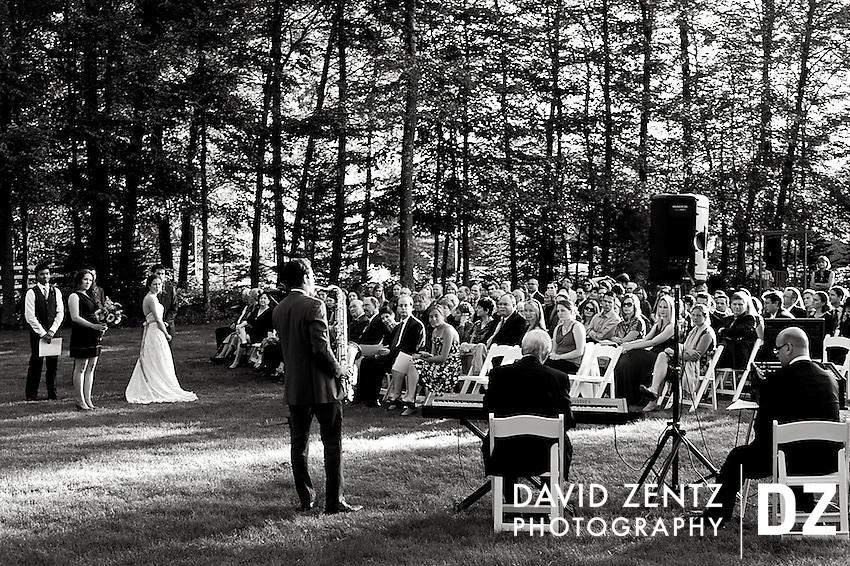 Madeleine DeBlois and Matt Mugmon's wedding rehearsal at the Five Bridges Inn in Rehoboth, Mass., on Oct. 7, 2011.