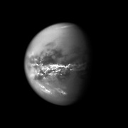 NASA's Cassini spacecraft chronicles the change of seasons as it captures clouds concentrated near the equator of Saturn's largest moon, Titan.