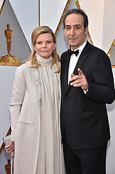 Dominique Lemonnier and Alexandre Desplat walking the red carpet as arriving for the 90th annual Academy Awards (Oscars) held at the Dolby Theatre in Los Angeles, CA, USA, on March 4, 2018. Photo by Lionel Hahn/ABACAPRESS.COM