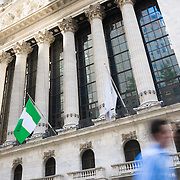 New York Stock Exchange building on Wall Street