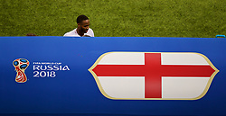 MOSCOW, RUSSIA - Wednesday, July 11, 2018: England's Raheem Sterling looks dejected as he is substituted during the FIFA World Cup Russia 2018 Semi-Final match between Croatia and England at the Luzhniki Stadium. (Pic by David Rawcliffe/Propaganda)