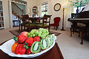 Bowl of fruit in Dining Room in 'Meredys' Bed and Breakfast. Maitland, NSW, Australia
