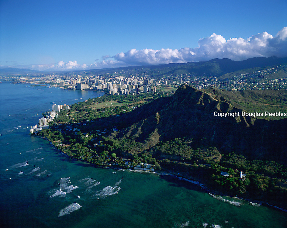 Diamond Head, Waikiki, Oahu, Hawaii, USA<br />