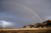 Rainbow over Seljaland, South Iceland