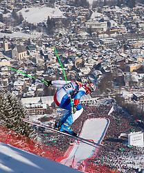 26.01.2013, Streif, Kitzbuehel, AUT, FIS Weltcup Ski Alpin, Abfahrt, Herren, im Bild Silvan Zurbriggen (SUI) // Silvan Zurbriggen of Switzerland in action during mens Downhill of the FIS Ski Alpine World Cup at the Streif course, Kitzbuehel, Austria on 2013/01/26. EXPA Pictures © 2013, PhotoCredit: EXPA/ Johann Groder