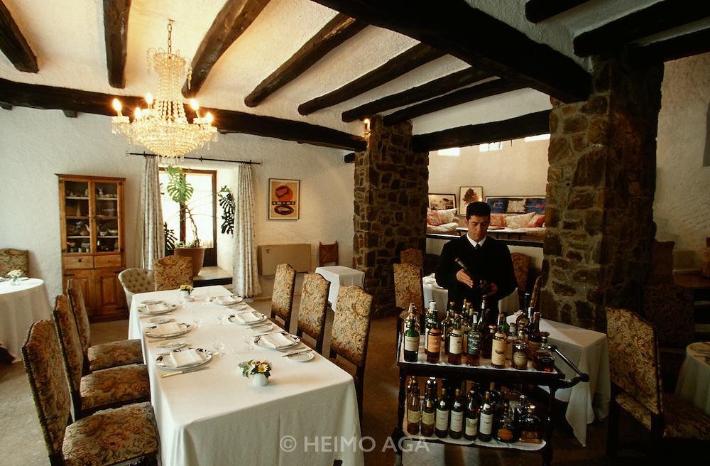 El Bulli. Famous extravagant restaurant run by Chef Ferran Adria and Manager Juli Soler.