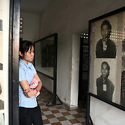 Phnom Pehn, Cambodia:  Phnom Penh, Cambodia: Tuol Sleng Genocide Museum is the site of the former Chao Ponhea Yat High School which was used as the notorious Security Prison 21 (S-21) by the Khmer Rouge communist regime between 1975 to its fall in 1979. The five building complex was converted in August 1975, four months after the Khmer Rouge won the civil war, into a prison and interrogation center. Photographs of the prisoners were taken by the Khmer Rouge.   Jose More Photography