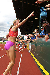 2012 USA Track & Field Olympic Trials: Morgan Uceny victory lap