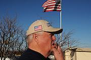 Glenn Spencer of the American Border Patrol, Hereford, Arizona, USA, monitors activity along the U.S./Mexico border.