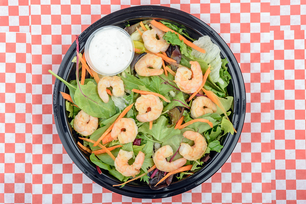 """Food items photographed on-location Thursday, July 5, 2018, to produce 24"""" x 36"""" window cling prints for placement in the windows of the Ville Chicken & Seafood restaurant in Louisville, Ky. (Photo by Brian Bohannon)"""