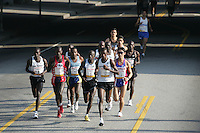 6 March, 2005: The elite runners including winner Mark Saina of Kenya with the number 5 on his chest  during the 20th running of the LA Marathon  in Los Angeles, CA..