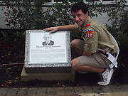 Bellaire HS sophomore David Falloure made his own mark in history when he researched the life of the City of Bellaire's founder, William Wright Baldwin, as a part of his Eagle Scout project. David's thorough research resulted in a granite marker at Bellaire's City Hall honoring Baldwin's achievements.