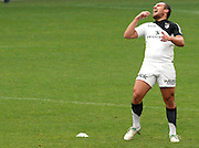 Lionel Beauxis reacts after missing a penalty for Toulouse. Stade Toulousain v Stade Francais, 9eme Journee, Top 14, Rugby, Stade Ernest Wallon, Toulouse, France, 29th October 2011.