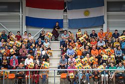 08-09-2018 NED: Netherlands - Argentina, Ede<br /> Second match of Gelderland Cup / support, fans, orange, tribune