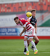 Dundee&rsquo;s Mark O&rsquo;Hara and Hamilton&rsquo;s Scott McMann - Hamilton Academical v Dundee in the Ladbrokes Scottish Premiership at the SuperSeal Stadium, Hamilton, Photo: David Young<br /> <br />  - &copy; David Young - www.davidyoungphoto.co.uk - email: davidyoungphoto@gmail.com