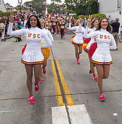 USC Cheerleaders and Marching Band at the Annual Balboa Island Parade
