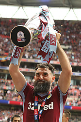 May 27, 2019 - London, England, United Kingdom - Mile Jedinak (15) of Aston Villa lifts the play off trophy after Aston Villa win the EFL Championship Play-Off Final during the Sky Bet Championship Play Off Final between Aston Villa and Derby County at Wembley Stadium, London on Monday 27th May 2019. (Credit Image: © Mi News/NurPhoto via ZUMA Press)