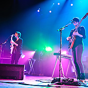 Washington, D.C. - Feb. 18th, 2010:  Tegan and Sara (identical twins Tegan Rain Quin and Sara Kiersten Quin) perform at the Warner Theater during their Sainthood 2010 tour. (Photo by Kyle Gustafson)