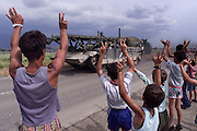 Pristina, Kosovo. June 12th 1999<br />