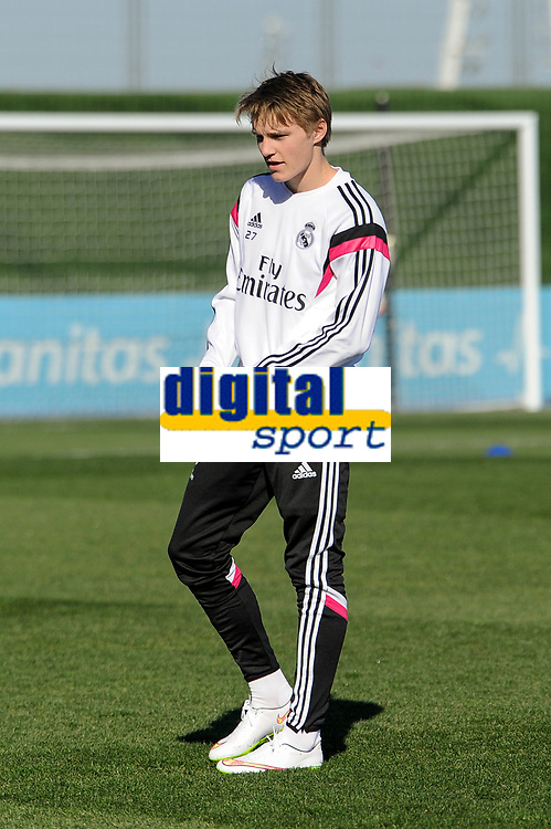 Real Madrid Castilla´s Martin Odegaard during 2014-15 Spanish Second Division match between Real Madrid Castilla and Athletic Club B at Alfredo Di Stefano stadium in Madrid, Spain. February 08, 2015. (ALTERPHOTOS/Luis Fernandez)