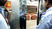 In an elevator at Brigade Tech Park, Whitefield, Bangalore