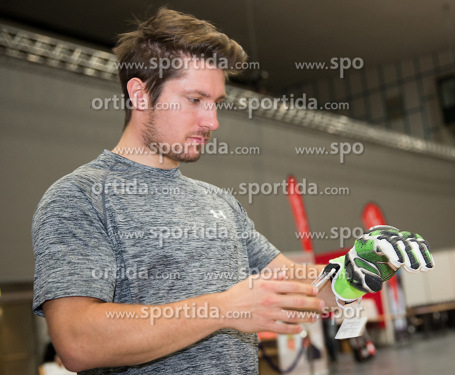 10.10.2015, Olympia Eisstadion, Innsbruck, AUT, OeSV Einkleidung Winterkollektion, im Bild Marcel Hirscher // during the Outfitting of the Ski Austria Winter Collection at the Olympia Eisstadion in Innsbruck, Austria on 2015/10/10. EXPA Pictures © 2015, PhotoCredit: EXPA/ Johann Groder