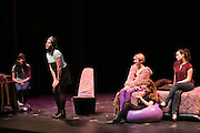 "From left, McKenzie Cutt, Olivia Spenard, Beatrice Maclagger, Madison Murphy, and Jessie Wrona perform in ""Percentage,"" a play about bullying, at School of the Arts in Rochester on Tuesday, February 2, 2016."